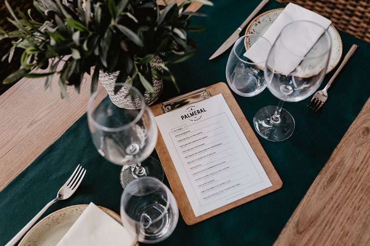Restaurante El Palmeral. Menú del fin de semana